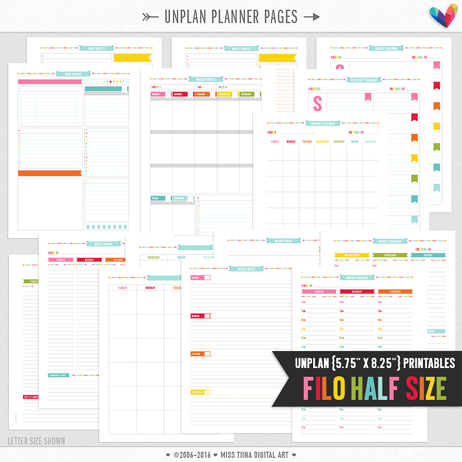unplan planner pages