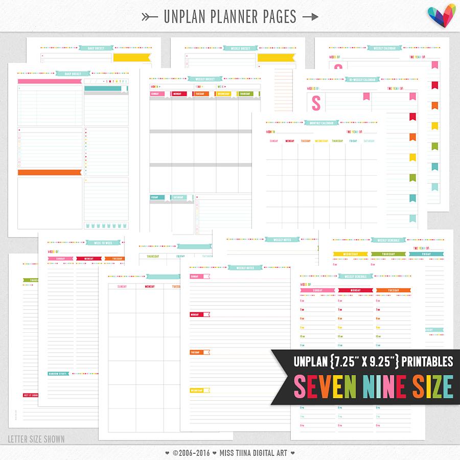 unplan planner pages - seven nine